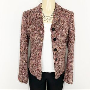 LAFAYETTE 148 New York Multi-color Tweed Blazer 4